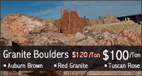 Boulders Available at te Vista Landscape Center